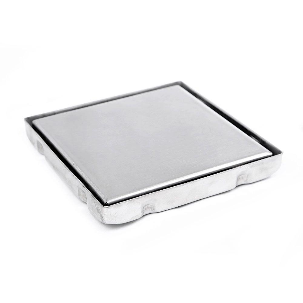 Ralo Invisível Quadrado Em Inox Tamanho 15x15