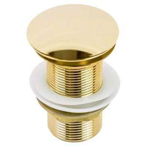 Válvula Click Dourada Pop Up Para Cubas E Pias Banheiro