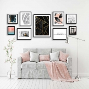Composê de Quadros Decorativos Artes e Fotos