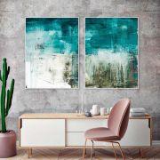 Conjunto de Quadros Decorativos Abstrato Artístico Pintura Arte