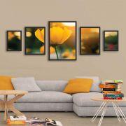Kit Mosaico de Quadros Flor Amarela