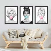 kit de Quadros Celebridades Bubble gum