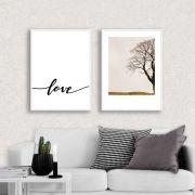 Kit de Quadros Decorativos Amor e Natureza