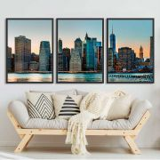 Kit de Quadros Decorativos Cidade NY