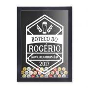 Porta Tampinhas Cerveja | Personalize com sua Historia e Ano de Fabricação