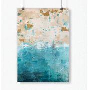 Poster Abstrato Vetorizada Azul