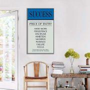 Quadro decorativo Com Frases Success