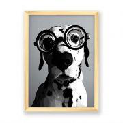 Quadro decorativo Dog Com Óculos