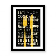 Quadro decorativo Para Cozinha e Area Gourmet