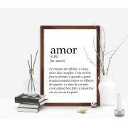 Quadro Frase Amor e Significado