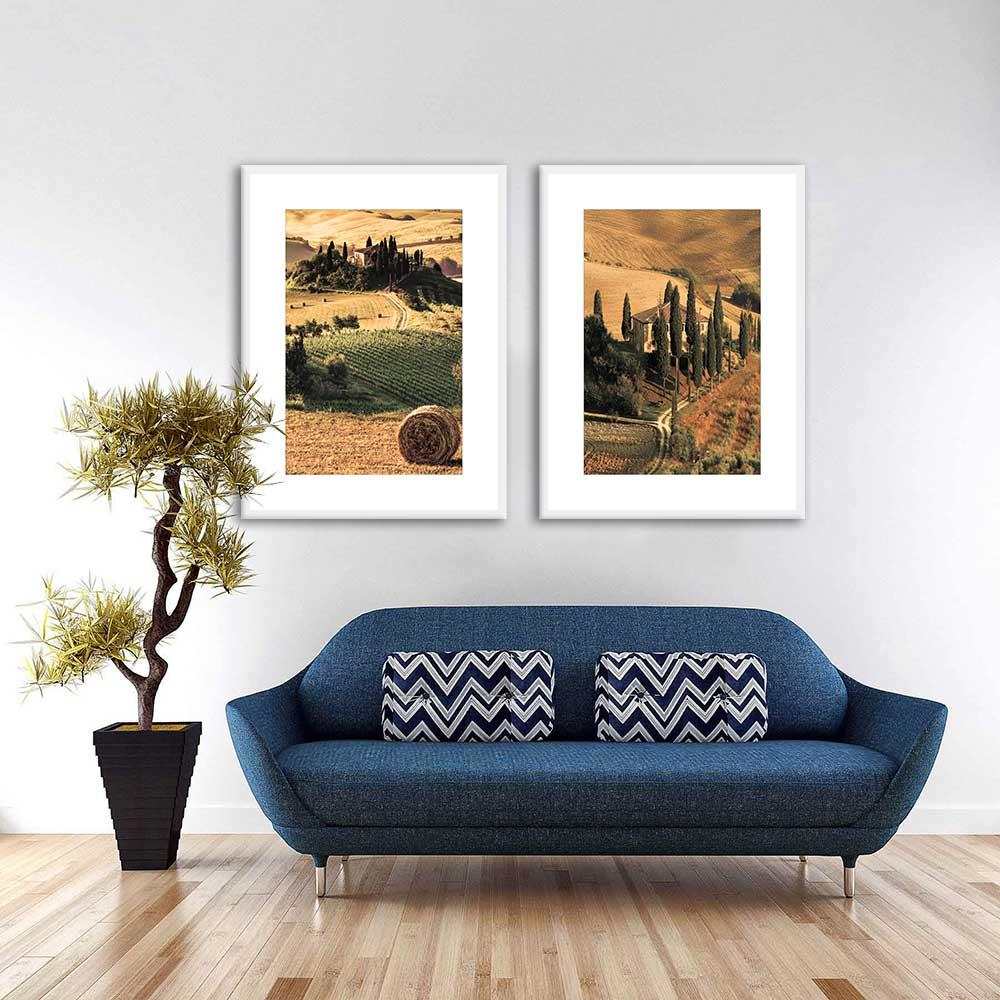 Conjunto de Quadros Decorativos Interior da Itália