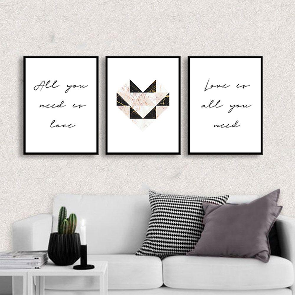Kit de Quadros Decorativos All You Need