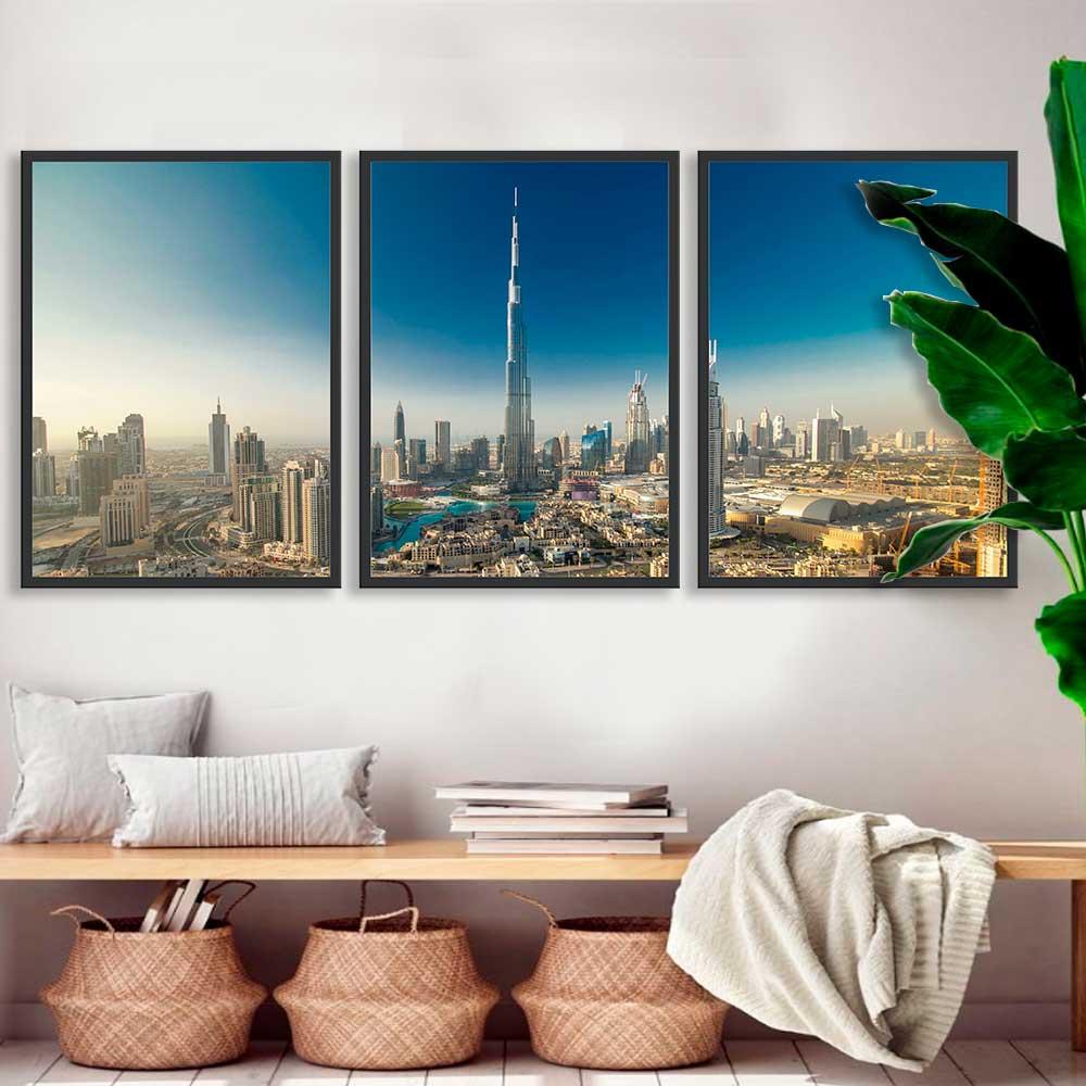 Kit de Quadros Decorativos Cidade Dubai