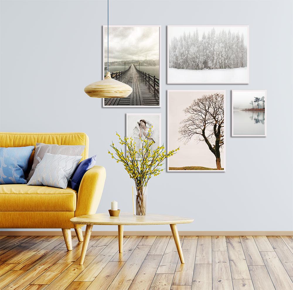 Kit de Quadros Decorativos Fotografias Decor Living