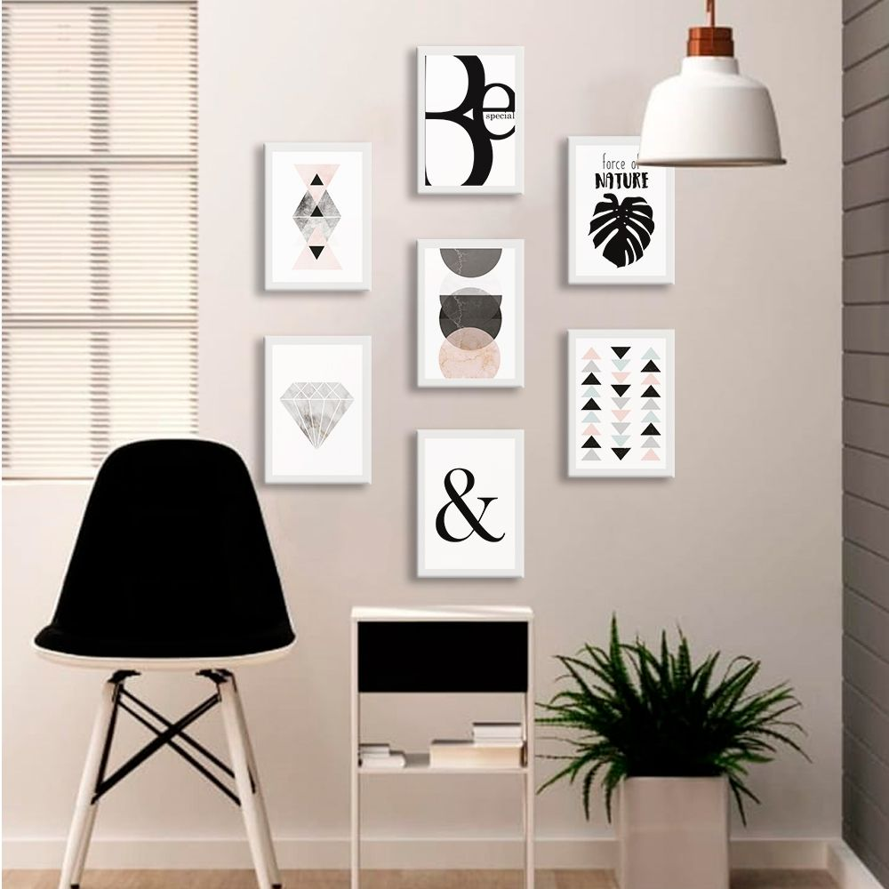 Kit de Quadros Decorativos Minimalista Teen