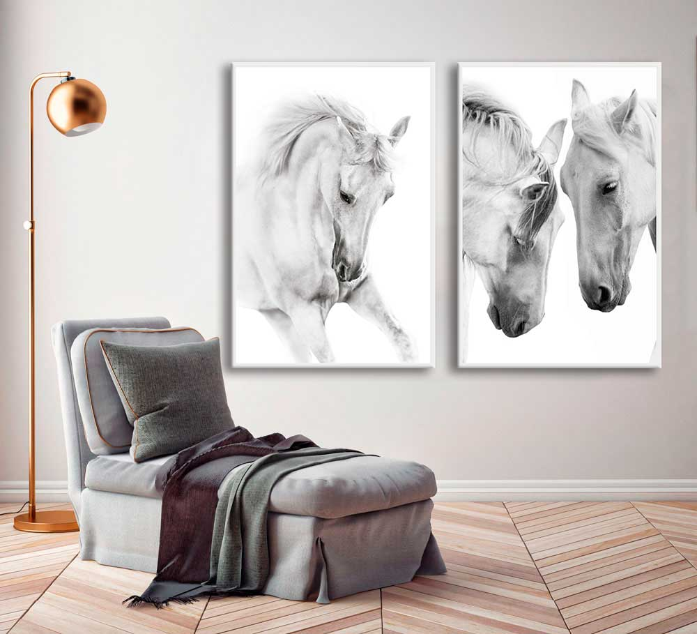 Kit de Quadros Decorativos Nature Horse