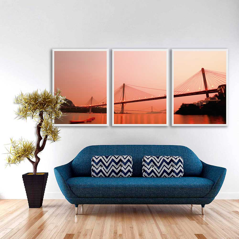 Kit de Quadros Decorativos Ponte Golden Gate - São Francisco