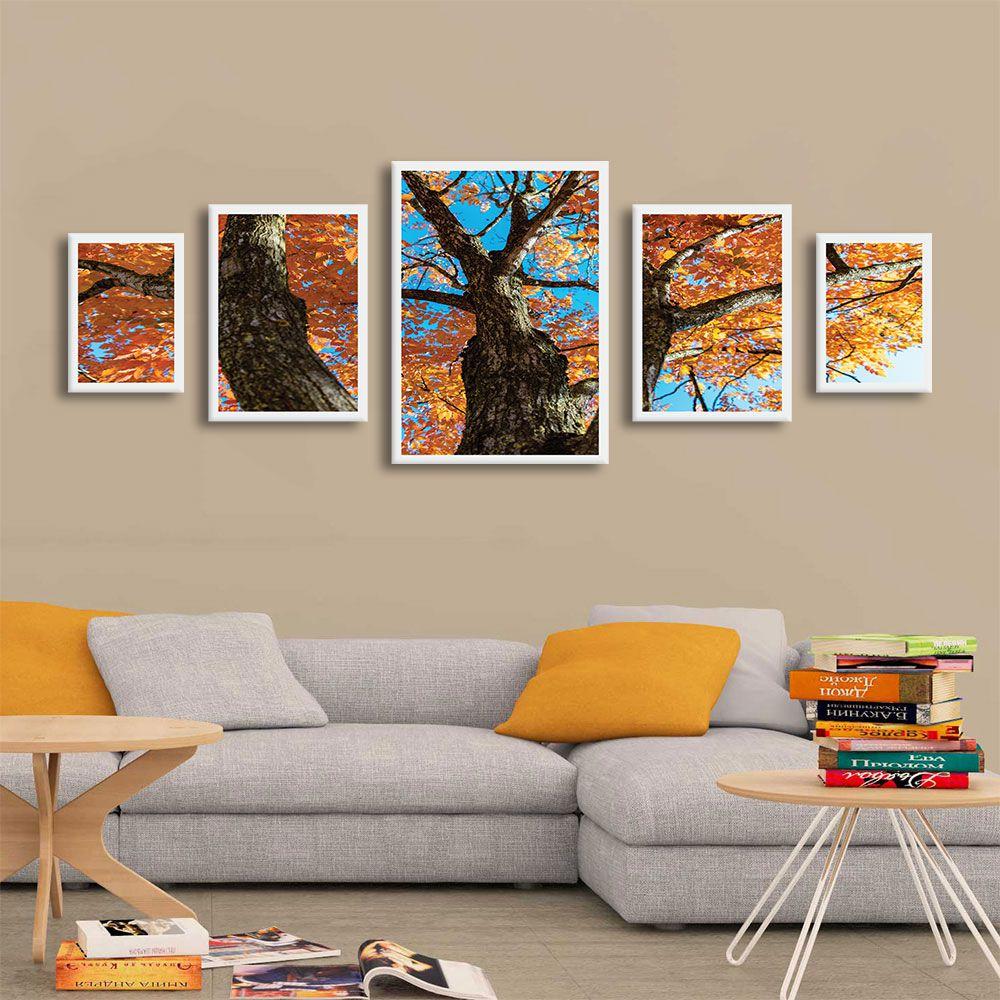 Kit Mosaico de Quadros Paisagem Árvore