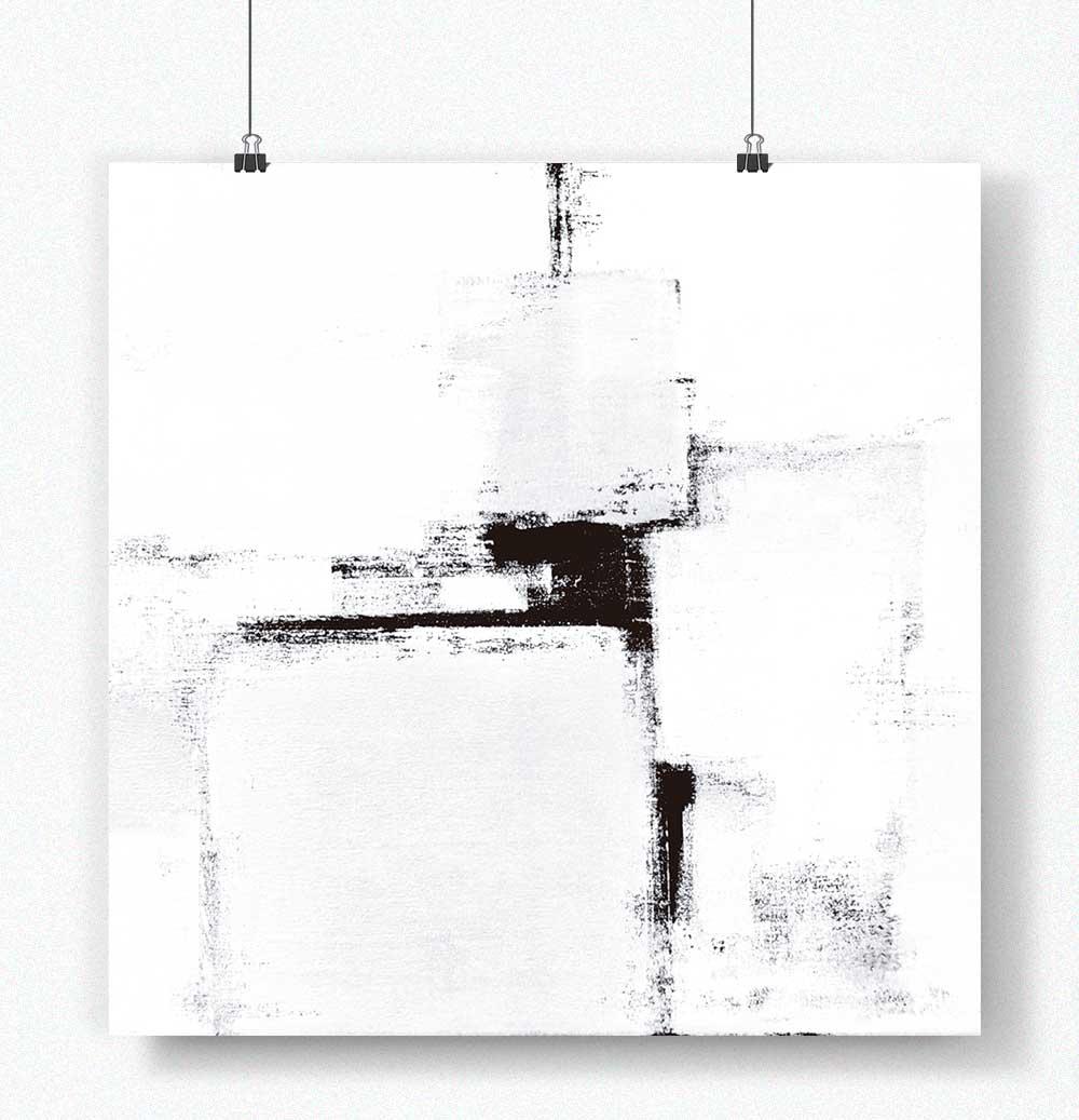Poster Ki  Abstratos Preto e Branco