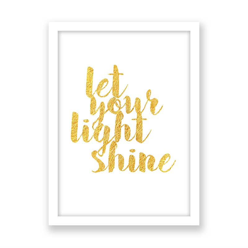 Quadro Com Frase Let Your Light Shine