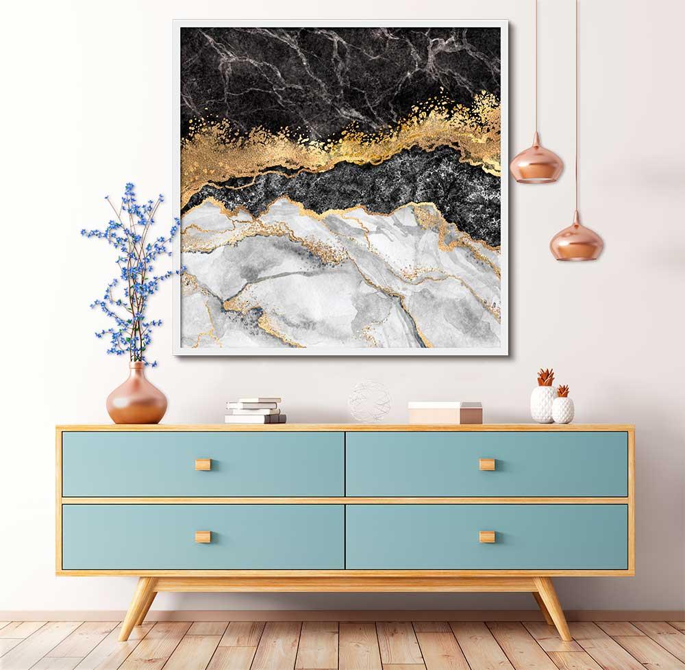 Quadro Decorativo Abstrato Arte 90 x 90cm