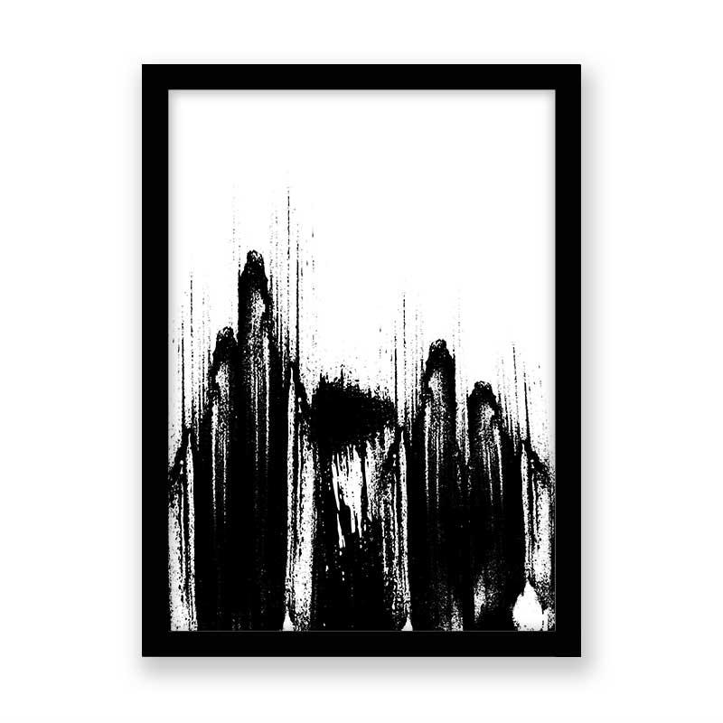 Quadro decorativo Abstrato Black