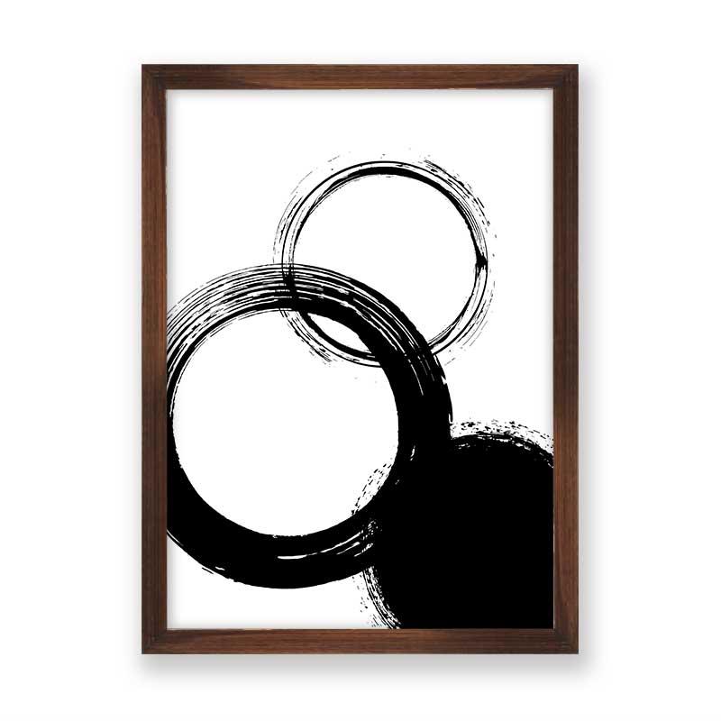 Quadro decorativo Abstrato Círculos Black