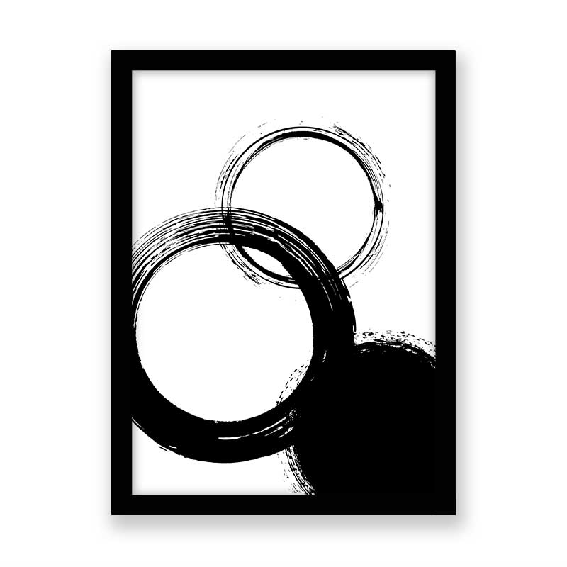 Quadro decorativo Abstrato Círculos Black