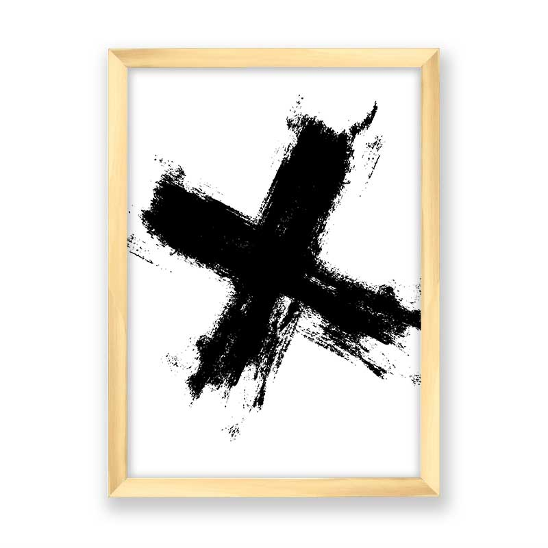 Quadro decorativo Abstrato X Black
