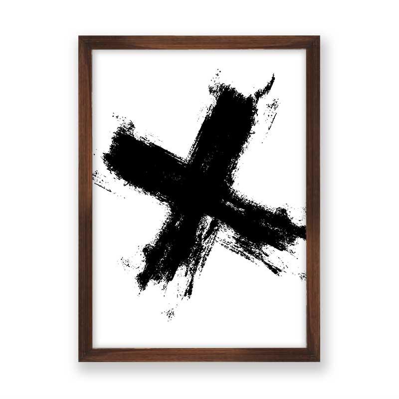 Quadro decorativo Abstrato X Black