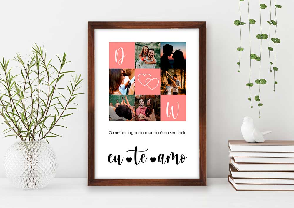 Quadro Decorativo Amor - O Melhor Lugar do Mundo é ao seu lado