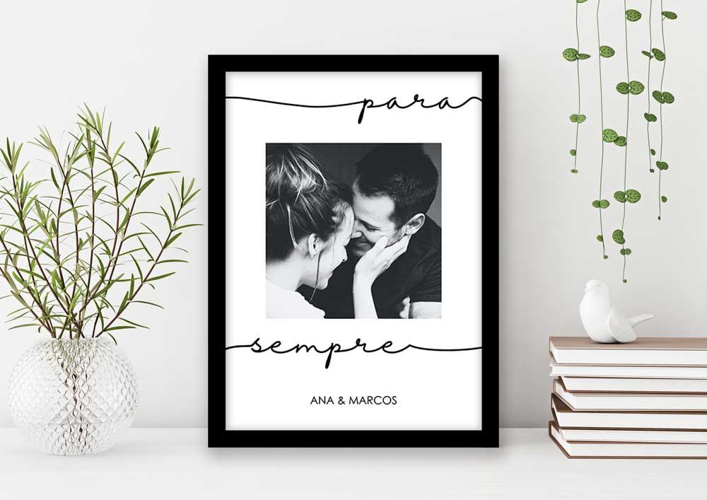 Quadro Decorativo Amor - Para Sempre