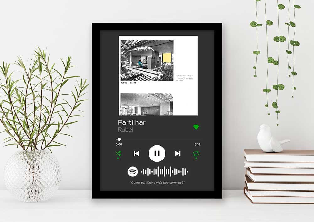 Quadro Decorativo Amor - Playlist Favorito Music