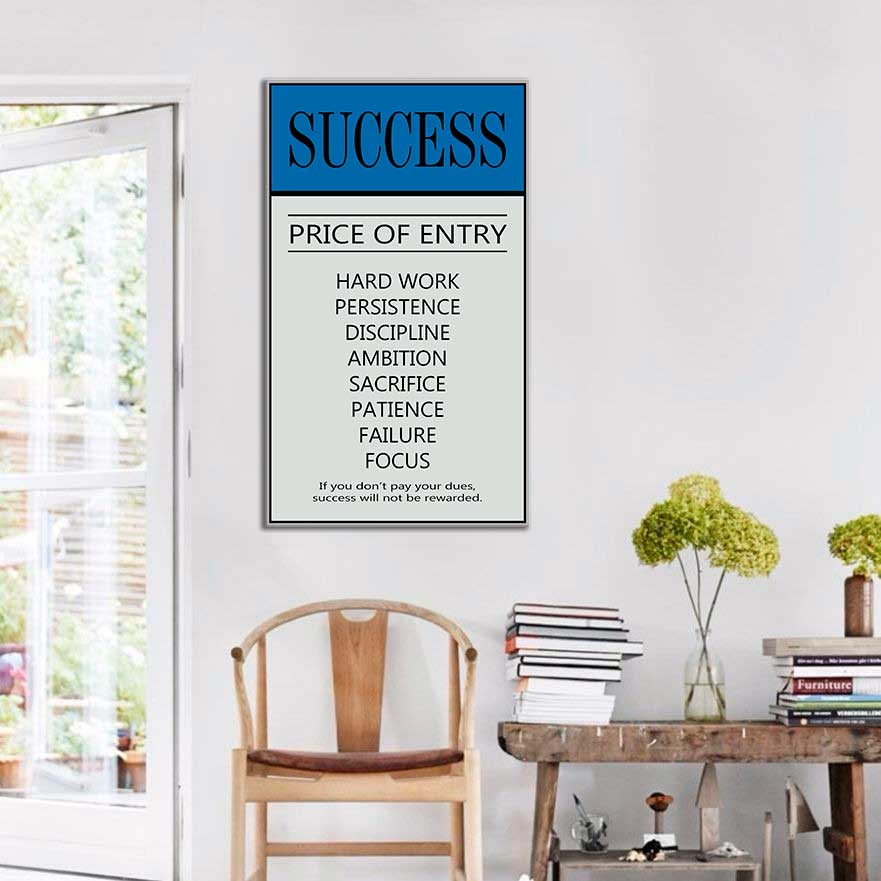 Quadro decorativo Com Frases Success