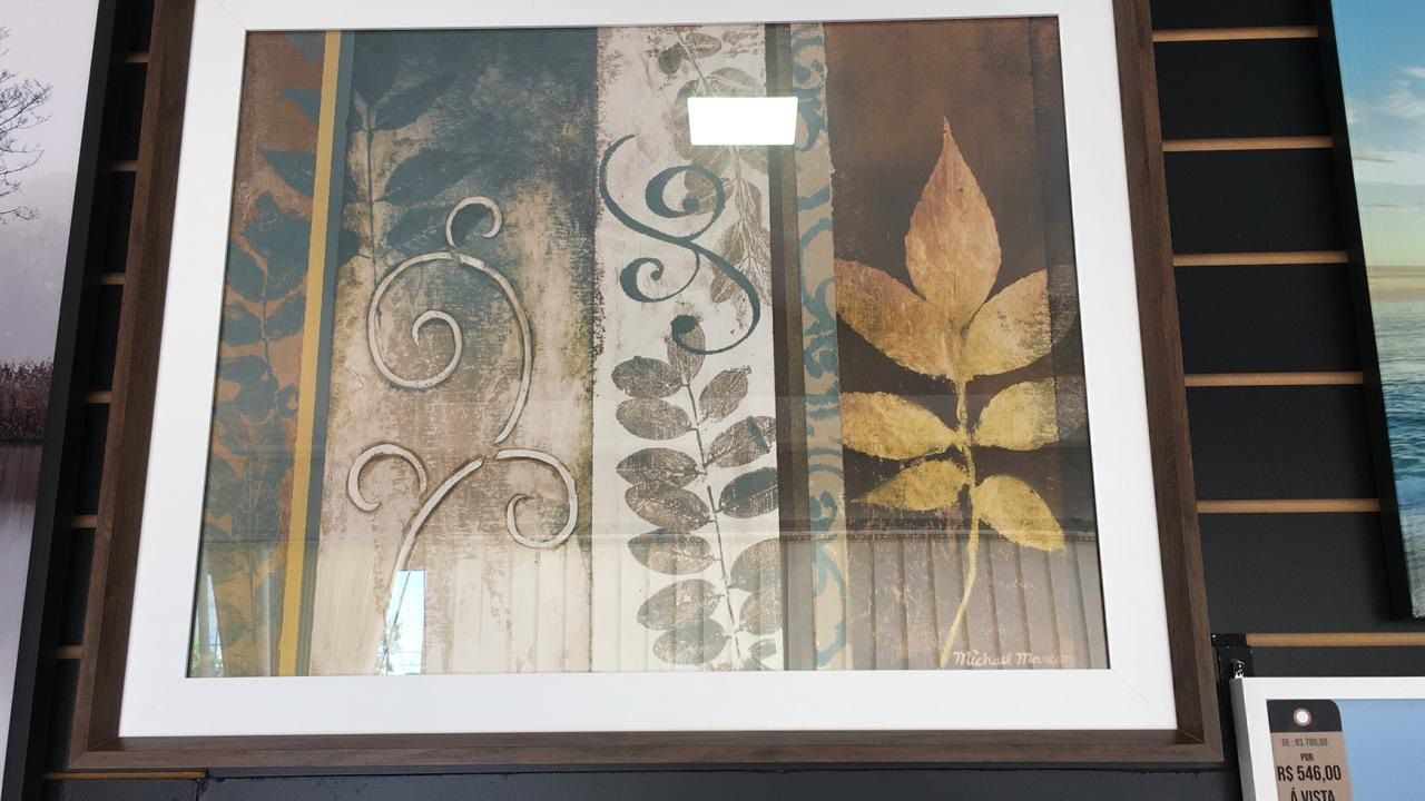 Quadro decorativo com gravura importada