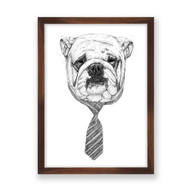 Quadro decorativo Dog Com Gravata
