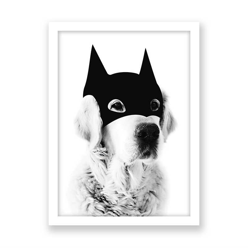 Quadro decorativo Dog Mascara do Batman
