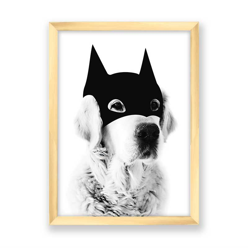 Quadro decorativo Dog Mascara do Batman