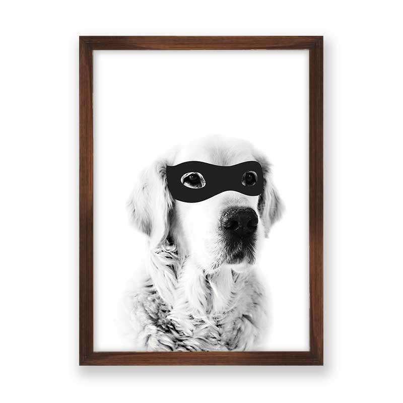 Quadro decorativo Dog Mascara do Robin