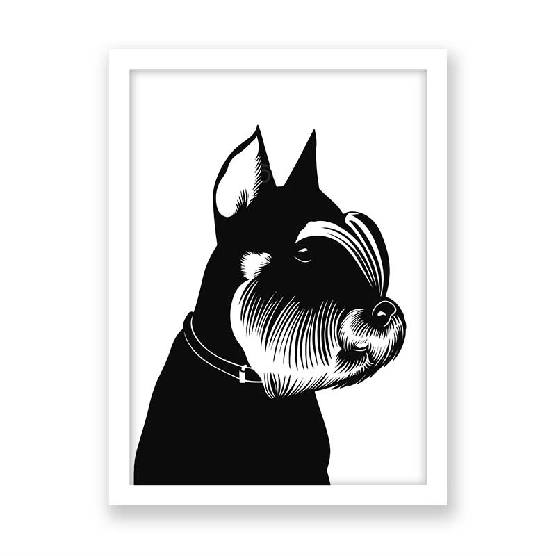 Quadro decorativo Dog Preto Minimalista