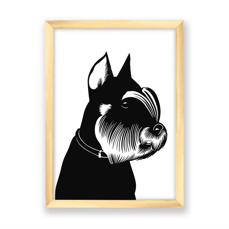 Quadro decorativo Dog Preto Minimalista