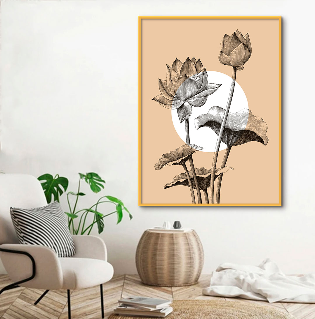 Quadro Decorativo Flor Abstrata Artístico