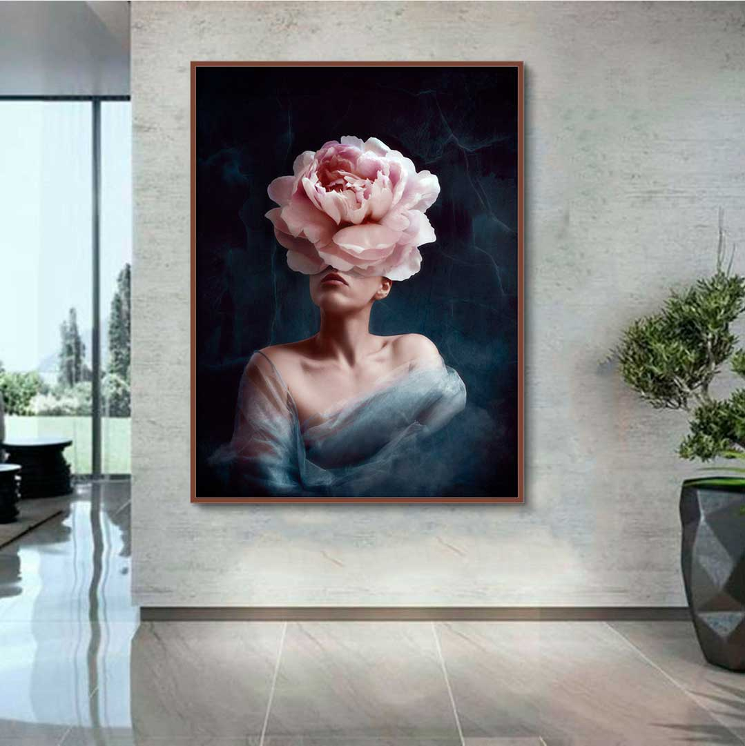Quadro Decorativo Flowers Woman
