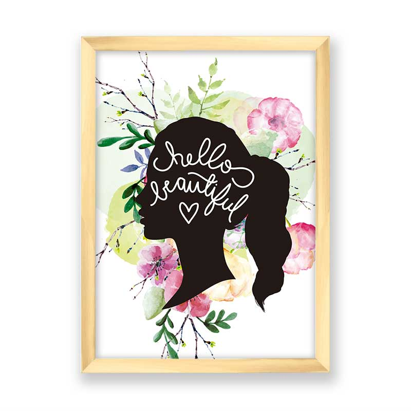 Quadro decorativo Hello Beautiful