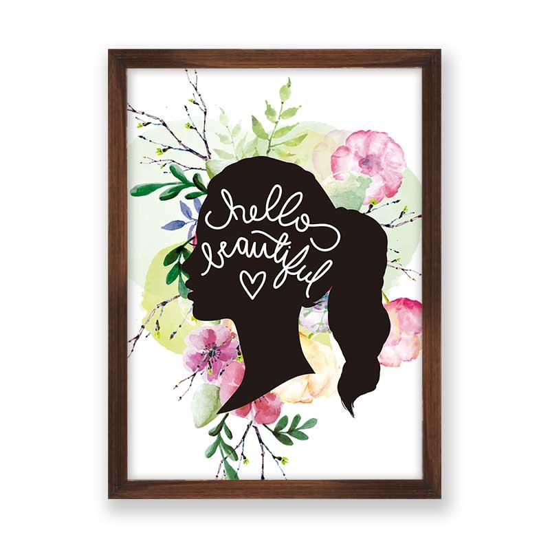 Quadro decorativo Hello Beautiful