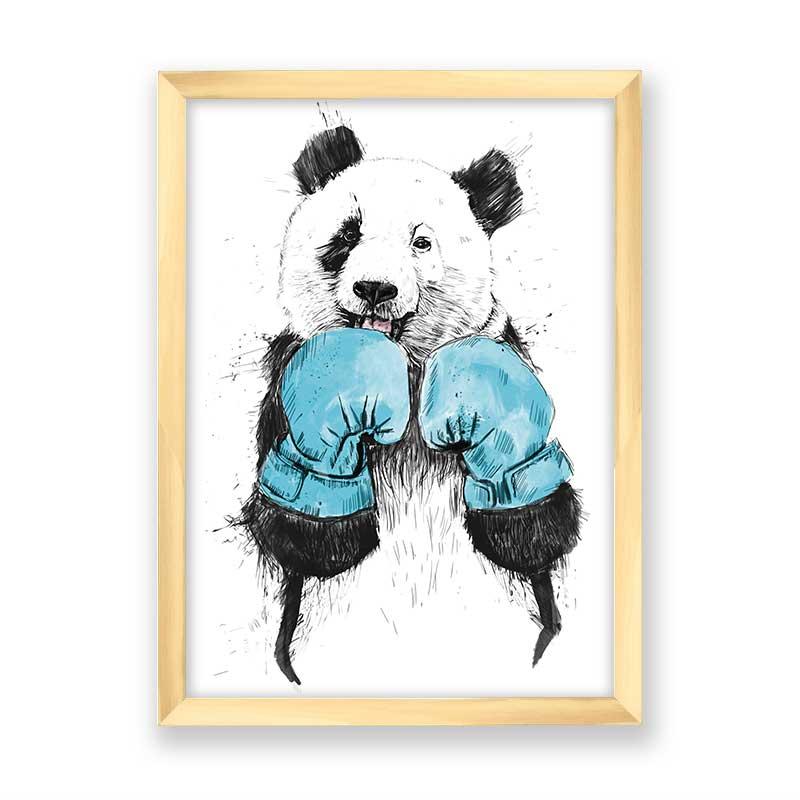 Quadro decorativo Panda Boxe