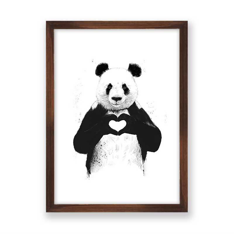 Quadro decorativo Panda Love