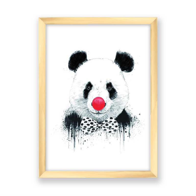Quadro decorativo Panda Palhaço