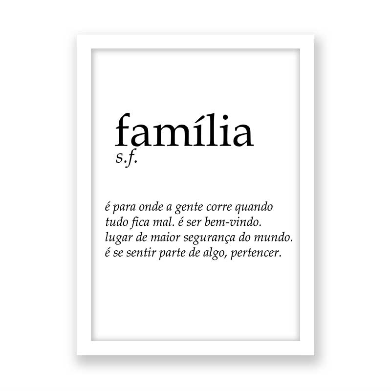 Quadro decorativo Significado Família