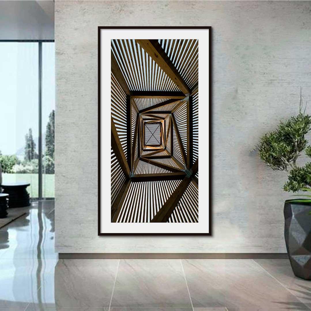 Quadro Decorativo Urbano Fotografia Escadaria